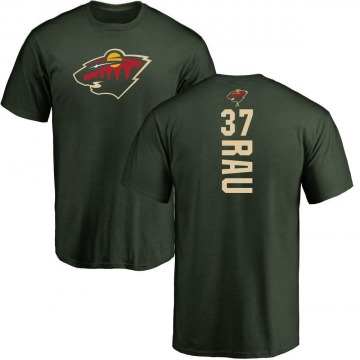 Men's Kyle Rau Minnesota Wild Backer T-Shirt - Green