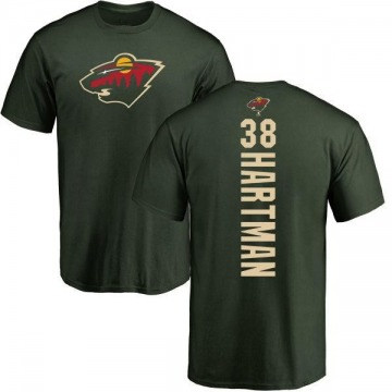 Men's Ryan Hartman Minnesota Wild Backer T-Shirt - Green