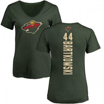 Women's Matt Bartkowski Minnesota Wild Backer T-Shirt - Green