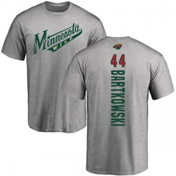 Youth Matt Bartkowski Minnesota Wild Backer T-Shirt - Ash